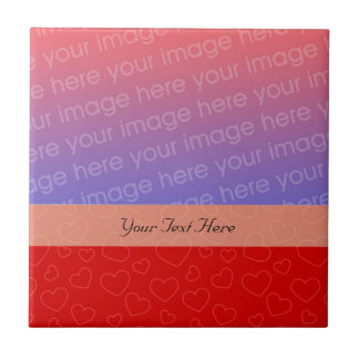 Tiny Red Hearts Your Photo Tile