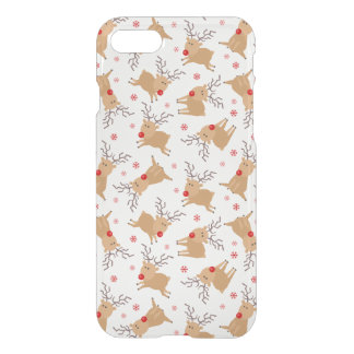 Tiny Reindeer Christmas Holiday Pattern iPhone 7 Case