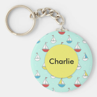 Tiny Sailboats Key Ring