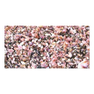 Tiny sea shells personalized photo card
