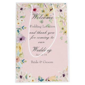 Tiny Spring Flower Wedding Medium Gift Bag