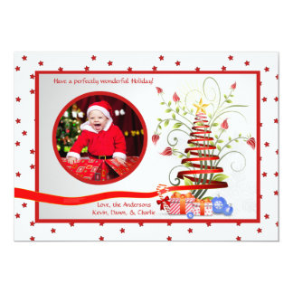 Tiny Stars - Holiday Photo Card 13 Cm X 18 Cm Invitation Card
