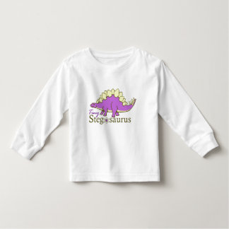 Tiny Stegosaurus, Purple Toddler T-Shirt