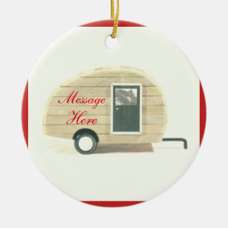 Tiny teardrop caravan casa christmas ornament