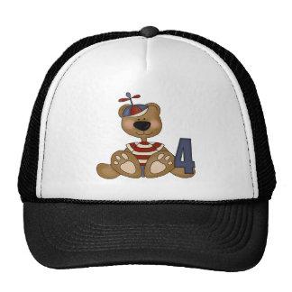 Tiny Teddy Bear 4th Birthday Gifts Cap