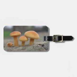 Tiny Toadstools Macro Custom Luggage Tag