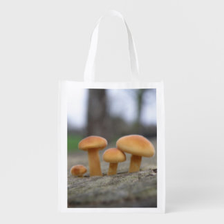 Tiny Toadstools Macro Reusable Bag