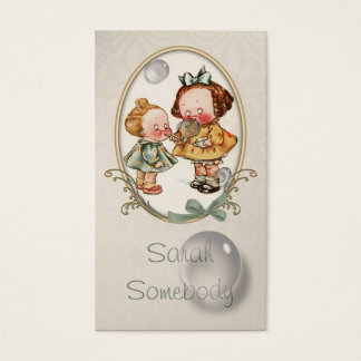 Tiny Toddlers Vintage Illustration Profile Card