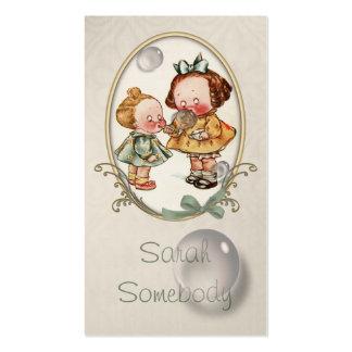 Tiny Toddlers Vintage Illustration Profile Card Pack Of Standard Business Cards
