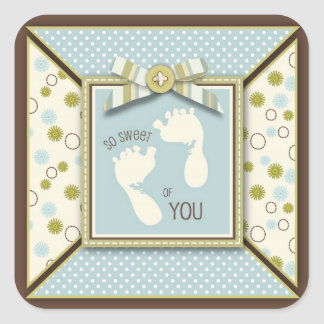 Tiny Toes TY Square Sticker