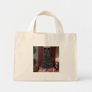 Tiny Tote  Christmas Tree Mini Tote Bag