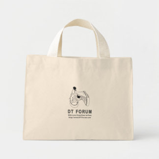 Tiny Tote DT Forum Logo Canvas Bags