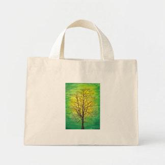 Tiny Tote - Green Tree Mini Tote Bag