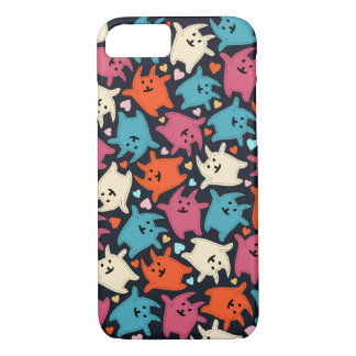 Tiny Tumbling Love Kittens iPhone 7 Case