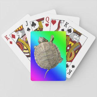 Tiny Turtle (Tortoise) & Diagonal Rainbow Gradient Poker Deck