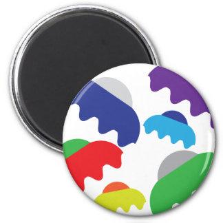 Tiny UFOs 6 Cm Round Magnet