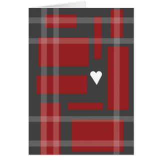 Tiny White Heart Greeting Card