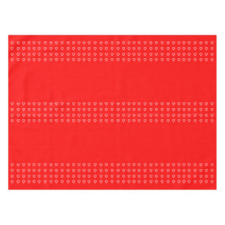 Tiny White Hearts on Red For Valentine's Day Tablecloth