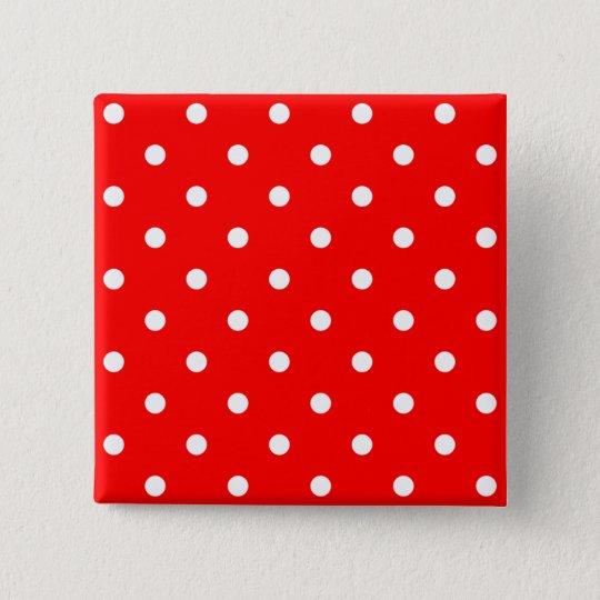 Tiny White Polka Dots 15 Cm Square Badge