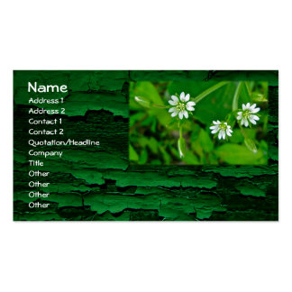 Tiny White Wildflower St Patrick s Day Business Cards