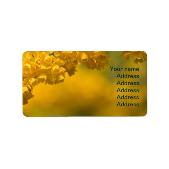 Tiny Yellow Flowers Address Label
