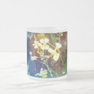 Tiny Yellow Flowers Frosted Glass Mug