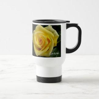 Tiny Yellow Rose Travel Mug