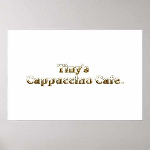 Tiny's Cappuccino Cafe Logo Print