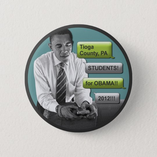 "Tioga County Students for Obama 2012 2.25"" Button"