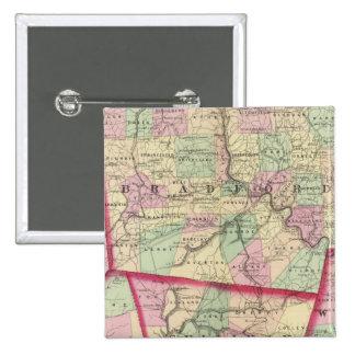 Tioga, Luzerne, Bradford, Sullivan, Wyoming 15 Cm Square Badge