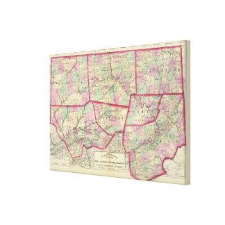 Tioga, Luzerne, Bradford, Sullivan, Wyoming Stretched Canvas Prints
