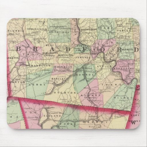 Tioga, Luzerne, Bradford, Sullivan, Wyoming Mouse Pad