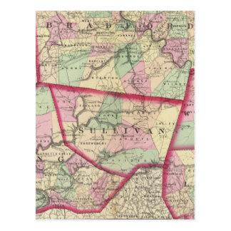 Tioga, Luzerne, Bradford, Sullivan, Wyoming Postcard