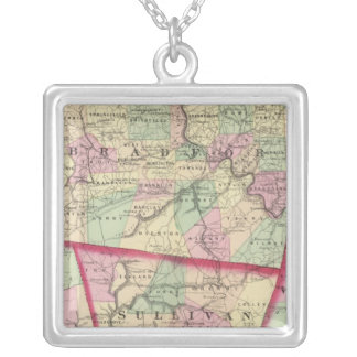 Tioga, Luzerne, Bradford, Sullivan, Wyoming Silver Plated Necklace