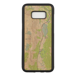 Tioga Pass, California Topographic Map Carved Samsung Galaxy S8+ Case