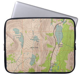 Tioga Pass California Topographic Map Computer Sleeves