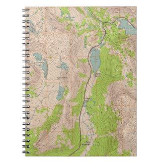 Tioga Pass California Topographic Map Note Book