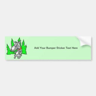 Tip Toe Dog Bumper Sticker