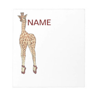 tip toe giraffe notepad