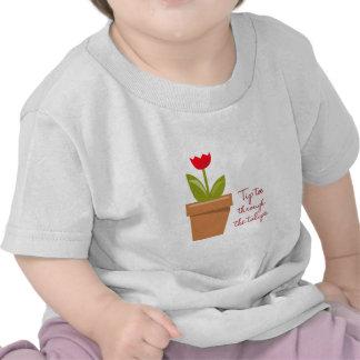 Tip Toe Tulips T-shirts