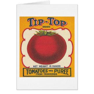 Tip-Top Tomatoes Vintage Label Card