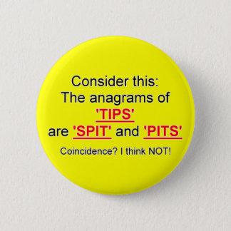 Tip your bartender 6 cm round badge
