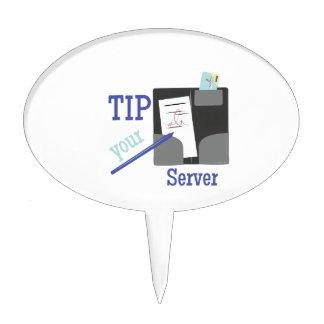 Tip Your Server Cake Picks