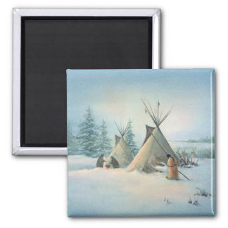 TIPI CAMP SQUAW by SHARON SHARPE Magnet