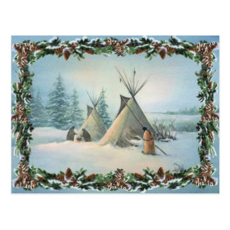 TIPI CAMP SQUAW by SHARON SHARPE Post Card