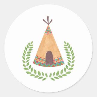 Tipi Classic Round Sticker