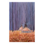 TIPI LEAVES by SHARON SHARPE Poster