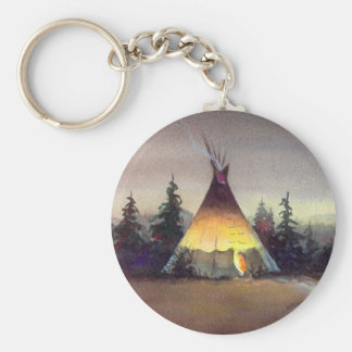TIPI LIGHTS by SHARON SHARPE Basic Round Button Key Ring