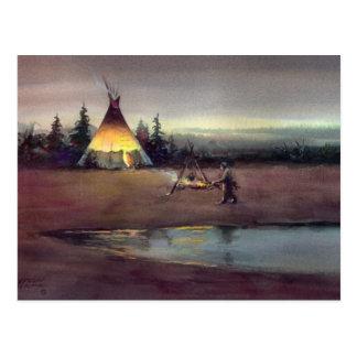 TIPI LIGHTS by SHARON SHARPE Postcard