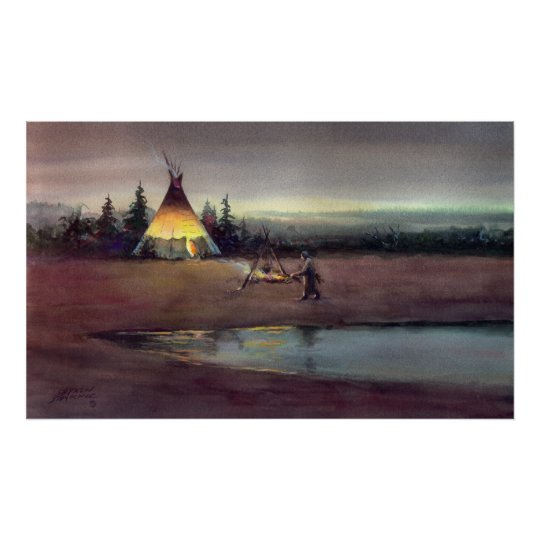 TIPI LIGHTS by SHARON SHARPE Poster